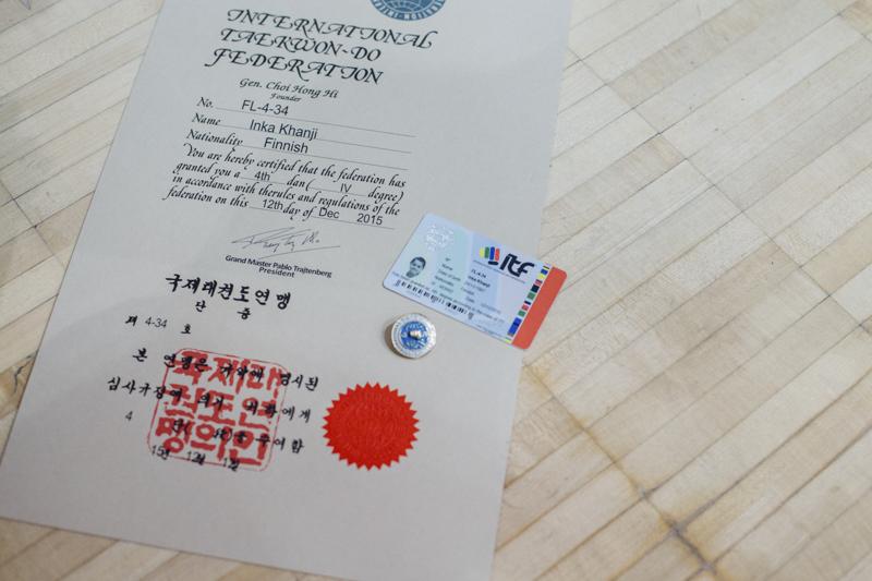 Mustan vyön sertifikaatti